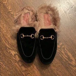 Gucci Princetown Mules with Fur